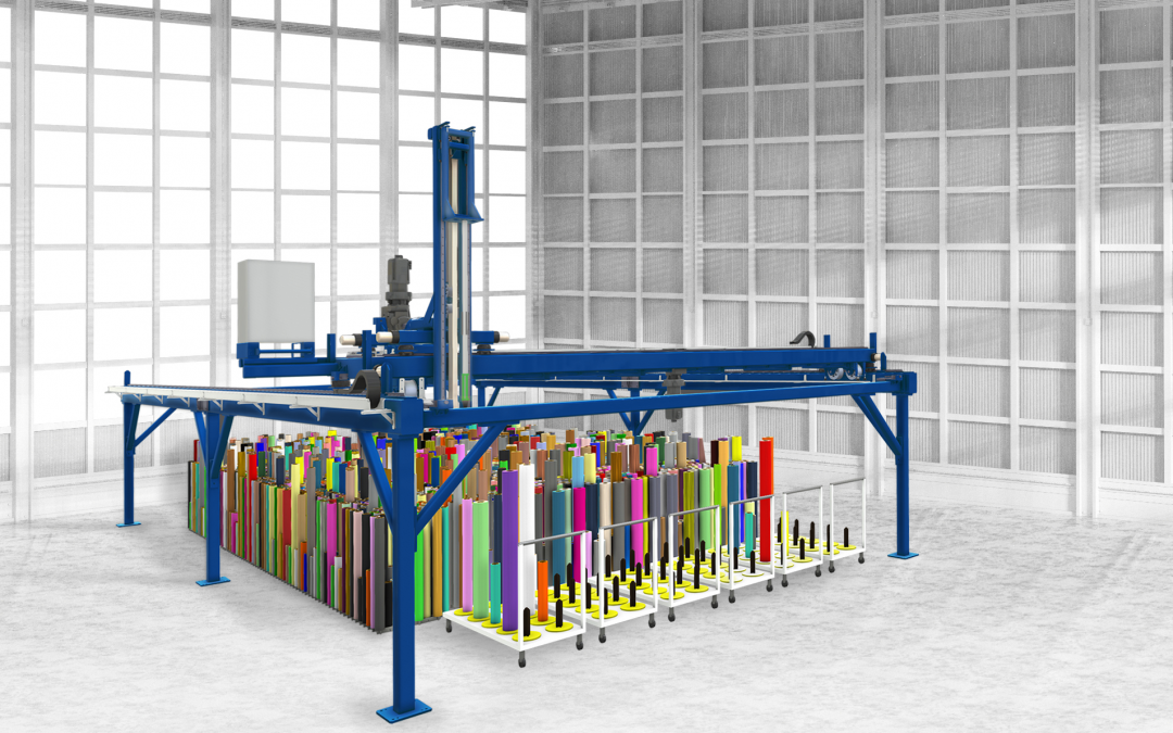 AUTOMATION: Industrieroboter oder Portalsystem im Rollenlager
